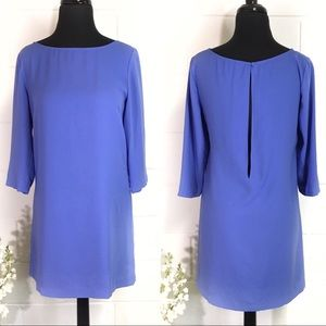 Leith Periwinkle Shift Dress With Slit Back